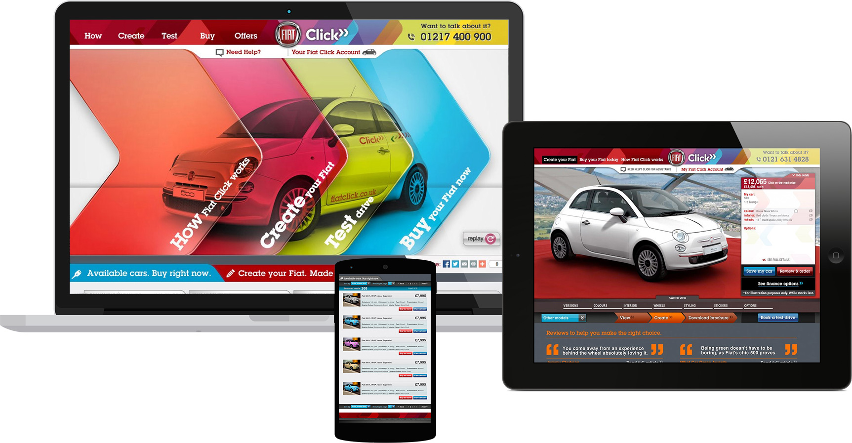 Fiat Click on devices